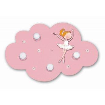 Waldi Wolke Ballerina ceiling light pink, 4-light sources