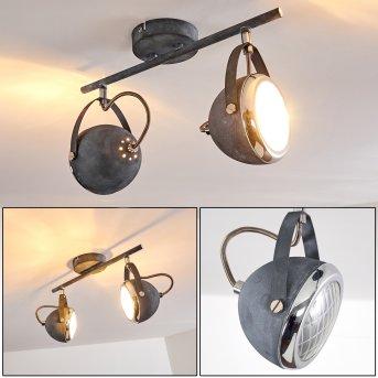 FOVERUP Ceiling Light chrome, grey, 2-light sources