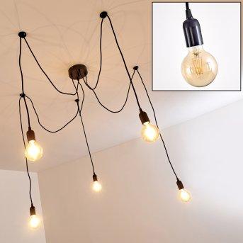 Imini Pendant Light black, 5-light sources