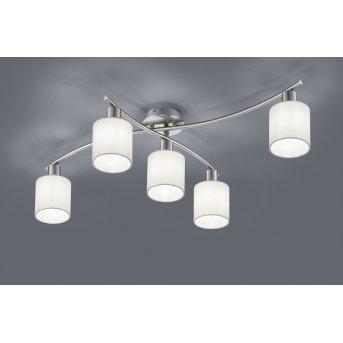 Trio-Leuchten Garda Ceiling Light matt nickel, 5-light sources