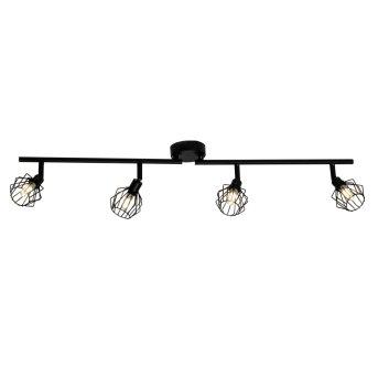 Brilliant NORIS ceiling spotlight LED black, 4-light sources
