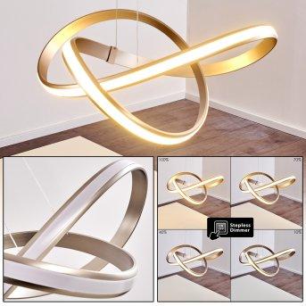 Woyens Pendant Light LED brushed steel, 1-light source