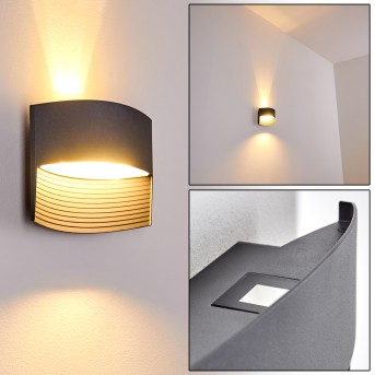 Romo Outdoor Wall Light LED anthracite, 1-light source