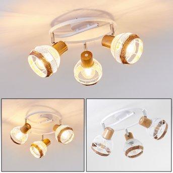 Bariloche Ceiling Light chrome, white, 3-light sources