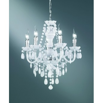 Reality LÜSTER chandelier white, 5-light sources