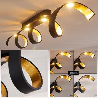 REZAT Ceiling Light LED black-gold, 1-light source
