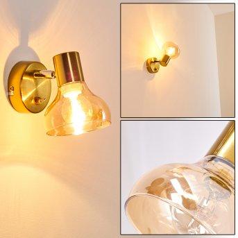 ESBERG Wall Light gold, 1-light source