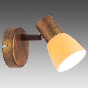 Brilliant LUCA wall spotlight copper, 1-light source