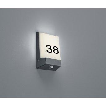 Trio-Leuchten Kasai house number light LED anthracite, 1-light source