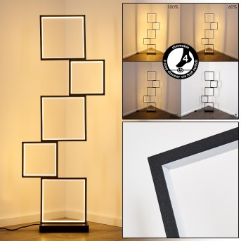 Bacolod Floor Lamp LED black, 1-light source
