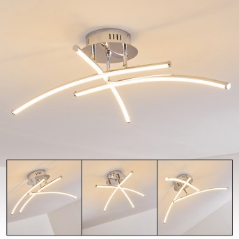 Orillia ceiling light LED chrome, 1-light source