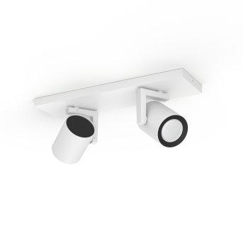 Philips HUE AMBIANCE WHITE & COLOR ARGENTA ceiling spotlight white, 2-light sources, Colour changer