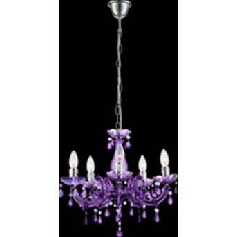 Globo lustre chrome, purple, 5-light sources