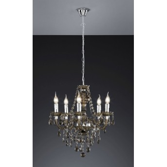 Reality LÜSTER chandelier black, transparent, clear, 5-light sources