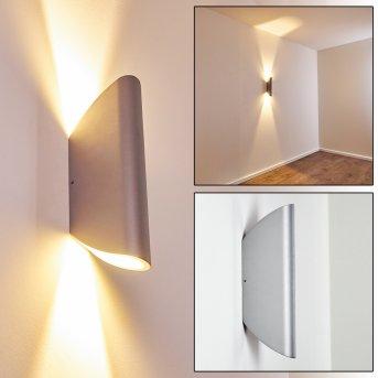 GATUNGA Outdoor Wall Light LED silver, 2-light sources