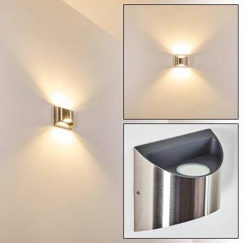 VANO outdoor wall light LED matt nickel, 2-light sources
