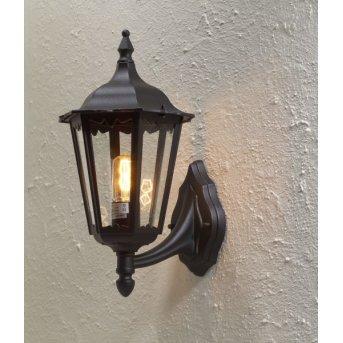 Konstsmide Firenze wall light black, 1-light source