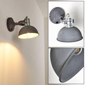 KINZUA Wall Light chrome, grey, 1-light source