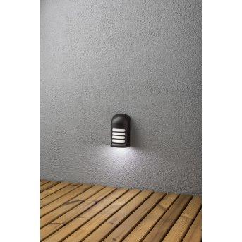 Konstsmide PRATO wall light LED black, 1-light source, Motion sensor
