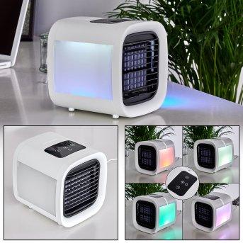 CHANIA electric desk fan LED black, white, 1-light source, Colour changer