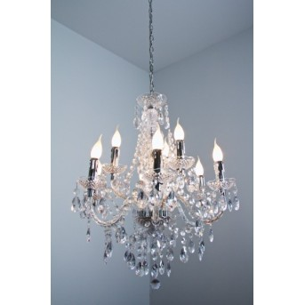 Reality chandelier transparent, clear, 9-light sources