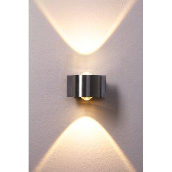 B-Leuchten Stream wall light LED stainless steel, 2-light sources