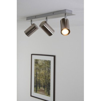 Trio 8024 ceiling light matt nickel, stainless steel, 3-light sources
