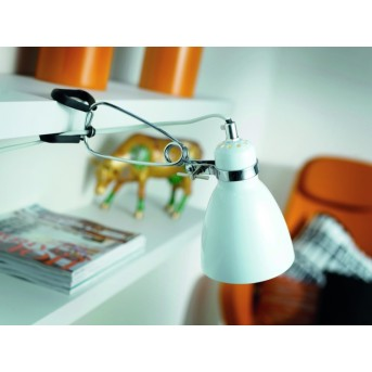 Nordlux CYCLONE clamp-on light white, 1-light source