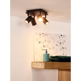 Ceiling Spotlight Lucide LENNERT LED black, 4-light sources