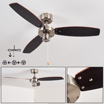 Ceiling Fan Fossa matt nickel