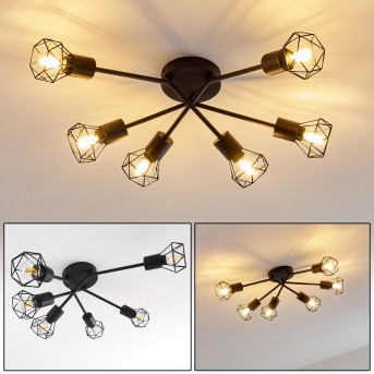 Baripada Ceiling Light black, 6-light sources
