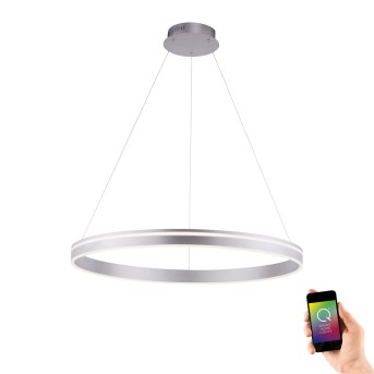 Paul Neuhaus Q-VITO Pendant Light LED stainless steel, 1-light source, Remote control