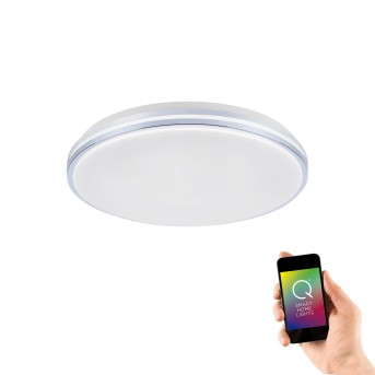 Ceiling Light Paul Neuhaus Q-BENNO LED chrome, 1-light source, Remote control