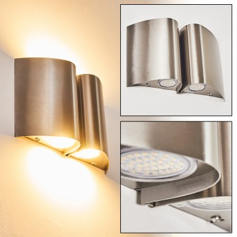 CORNUS Outdoor Wall Light LED stainless steel, 4-light sources