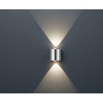 Trio WALES wall light LED matt nickel, 2-light sources