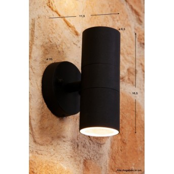 Konstsmide MODENA wall light black, 2-light sources