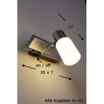 Trio 8214 wall light LED chrome, aluminium, stainless steel, 1-light source