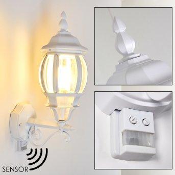 LENTUA Outdoor Wall Light white, 1-light source, Motion sensor