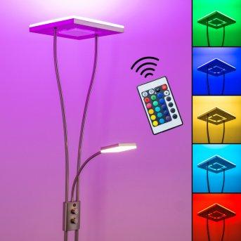 Notigi uplighter LED matt nickel, 2-light sources, Remote control, Colour changer