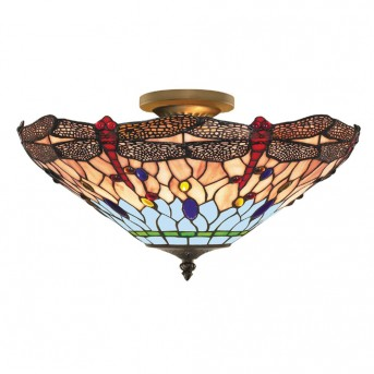Ceiling Light Searchlight DRAGONFLY brass, 3-light sources