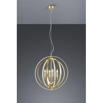Trio CANDELA chandelier brass, 4-light sources