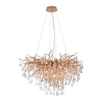 Paul Neuhaus ICICLE chandelier antique brass, 10-light sources