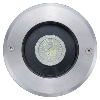 Lutec DENVER recessed ground light stainless steel, 1-light source