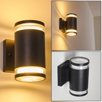 MACOUPIN Outdoor Wall Light black, 2-light sources
