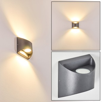 VIKOM outdoor wall light LED anthracite, 2-light sources