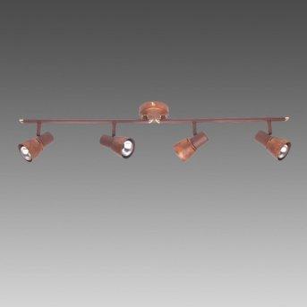 Brilliant LAVA Spotlight copper, 4-light sources