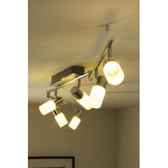 Trio 8214 ceiling light LED chrome, aluminium, stainless steel, 6-light sources