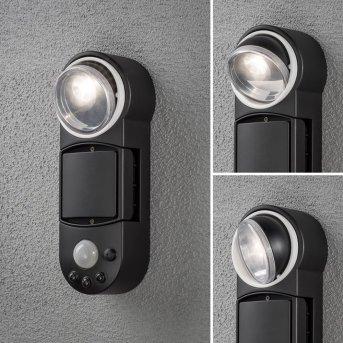 Konstsmide PRATO wall light LED white, 1-light source, Motion sensor