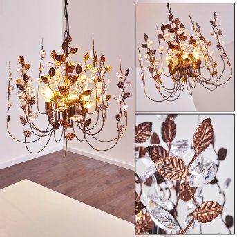 Tenero Chandelier rust-coloured, 4-light sources