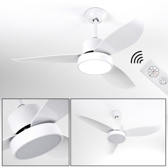 Doha ceiling fan LED white, 1-light source, Remote control